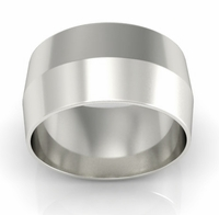 10mm Platinum Wedding Band Knife Edge