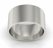 10mm Platinum Wedding Ring Flat
