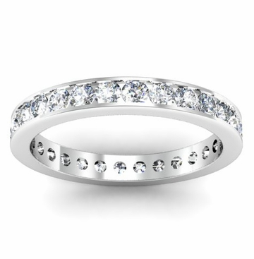 Eternity Channel Set Ring One Carat Round Diamonds - click to enlarge