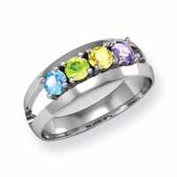 14k Family Ring for Mom with Four Birthstones