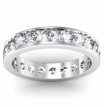 Eternity Band 2.00cttw Round Diamonds - click to enlarge