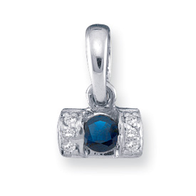 14k Mother's Birthstone Pendant with One Natural Birthstone