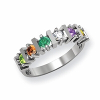 14k Mother's Day Ring with Six Custom Birthstones