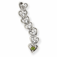 14k Mother's Heart Pendant with One Birthstone