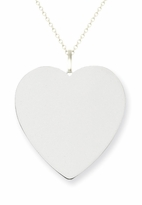 14k White Gold Heart Pendant 24mm