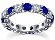 Diamond and Sapphire Eternity Ring