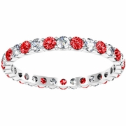 Diamond and Ruby Eternity Ring 1.00cttw