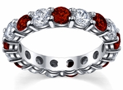 Diamond and Ruby Eternity Ring 4.00cttw