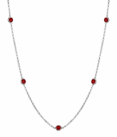 Rubies by the Inch Necklace