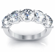 Five Stone Round Diamond Anniversary Wedding Ring 3.00cttw