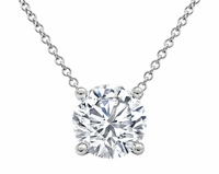 14kt Gold Solitaire Diamond Pendant