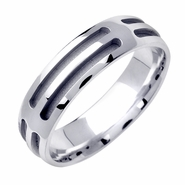 14kt Mens Designer Wedding Ring