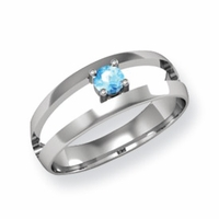 14kt Mother's Ring with Solitaire Birthstone