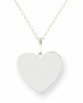 14kt White Gold Heart Necklace with Initial 10mm