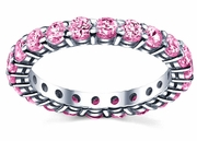 2.00 cttw Pink Sapphire Eternity Ring