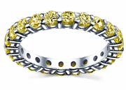 2.00 cttw Yellow Sapphire Eternity Ring