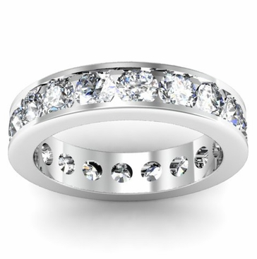 2.75cttw Channel Set Diamond Eternity Wedding Band - click to enlarge
