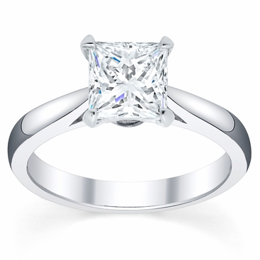 2.7mm Princess Open Tapered Solitaire Setting - click to enlarge