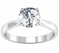 2.8mm Round Double Prong Tapered Solitaire Engagement Setting