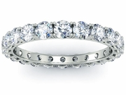 2 Carat Diamond Eternity Ring Four Prong