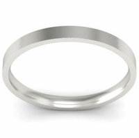 2mm Flat Wedding Band in 18k