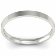 2mm Platinum Wedding Ring Flat