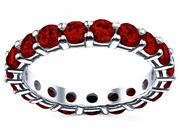 3.00 cttw Ruby Eternity Ring