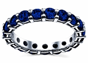 3.00 cttw Sapphire Eternity Ring