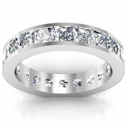 3.50 cttw Channel Set Princess Cut Eternity Band