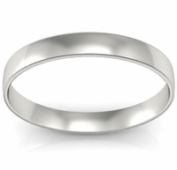 3mm Platinum Wedding Band Milgrain