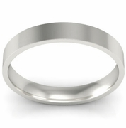 3mm Platinum Wedding Ring Flat