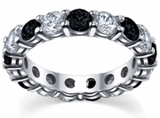 4.00cttw Black and White Diamonds Eternity Band