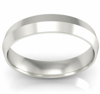 4mm Knife Edge Wedding Band in 14k