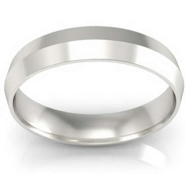 4mm Platinum Wedding Band Knife Edge - click to enlarge