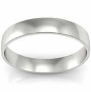4mm Platinum Wedding Band Milgrain