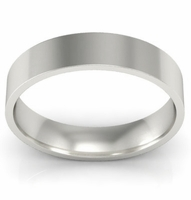 4mm Platinum Wedding Ring Flat
