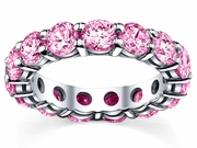 5.00 cttw Pink Sapphire Eternity Ring