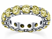 5.00 cttw Yellow Sapphire Eternity Ring