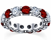 5.00cttw Diamond and Ruby Eternity Ring