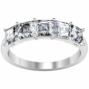 5 Stone Asscher Wedding Ring
