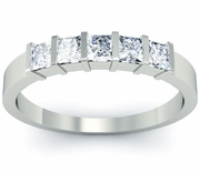 5 Stone Diamond Ring Bar Setting