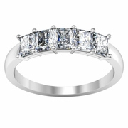 5 Stone Diamond Wedding Ring