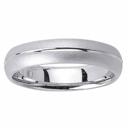 5mm Mens or Womens Wedding Band with Center Groove
