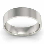 5mm Platinum Wedding Ring Flat