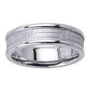 6.5mm Greek Key Design Ring with Rounded Edges