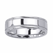 6.5mm Polished Mens Wedding Band