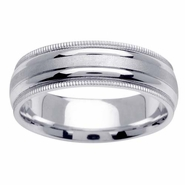 6.5mm Unique Mens Ring