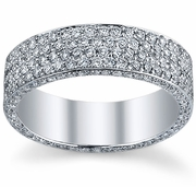 6 Row Micro Pave Diamond Eternity Band
