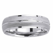 6mm Brushed and Polished Wedding Ring for Men or Women