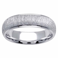 6mm Brushed Wedding Ring for Men or Women